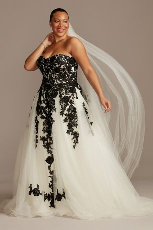 Sheer Lace and Tulle Plus Size Wedding