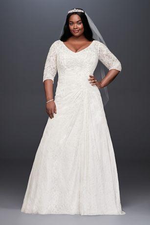 Plus Size White Long Sleeve Dress
