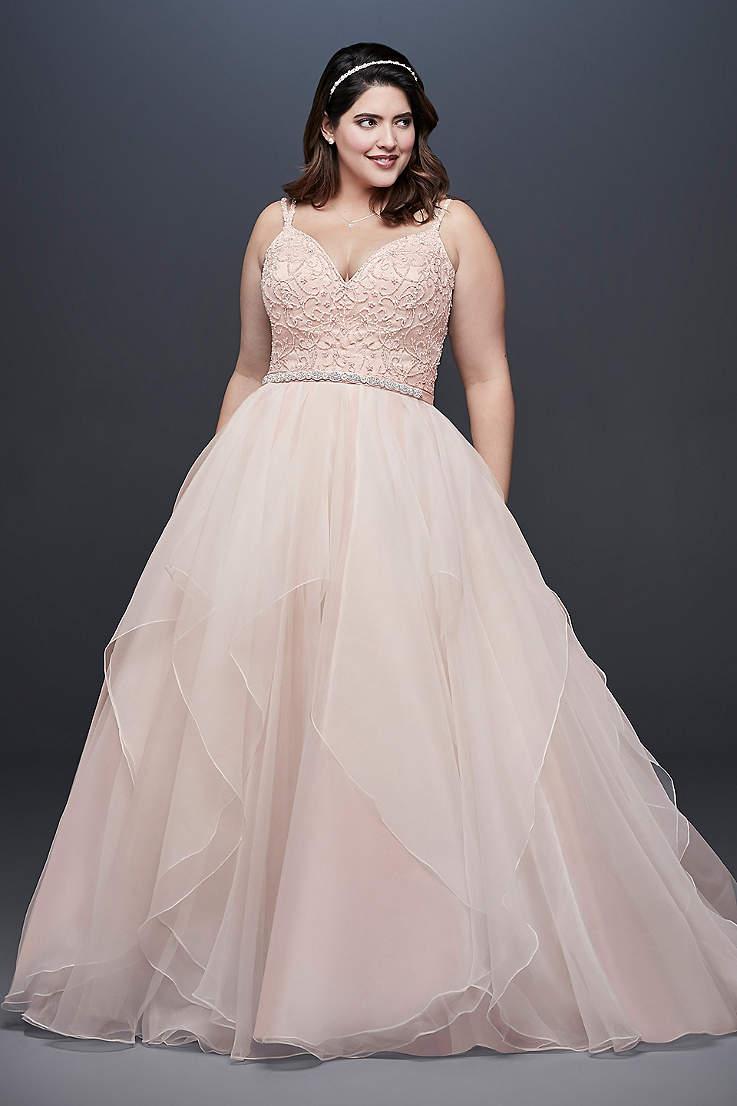 Pink Plus Size Dresses | Davids Bridal