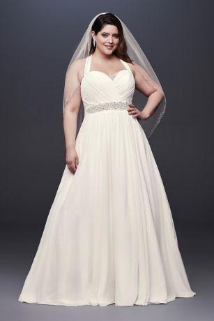 Illusion Chiffon Wedding Dress