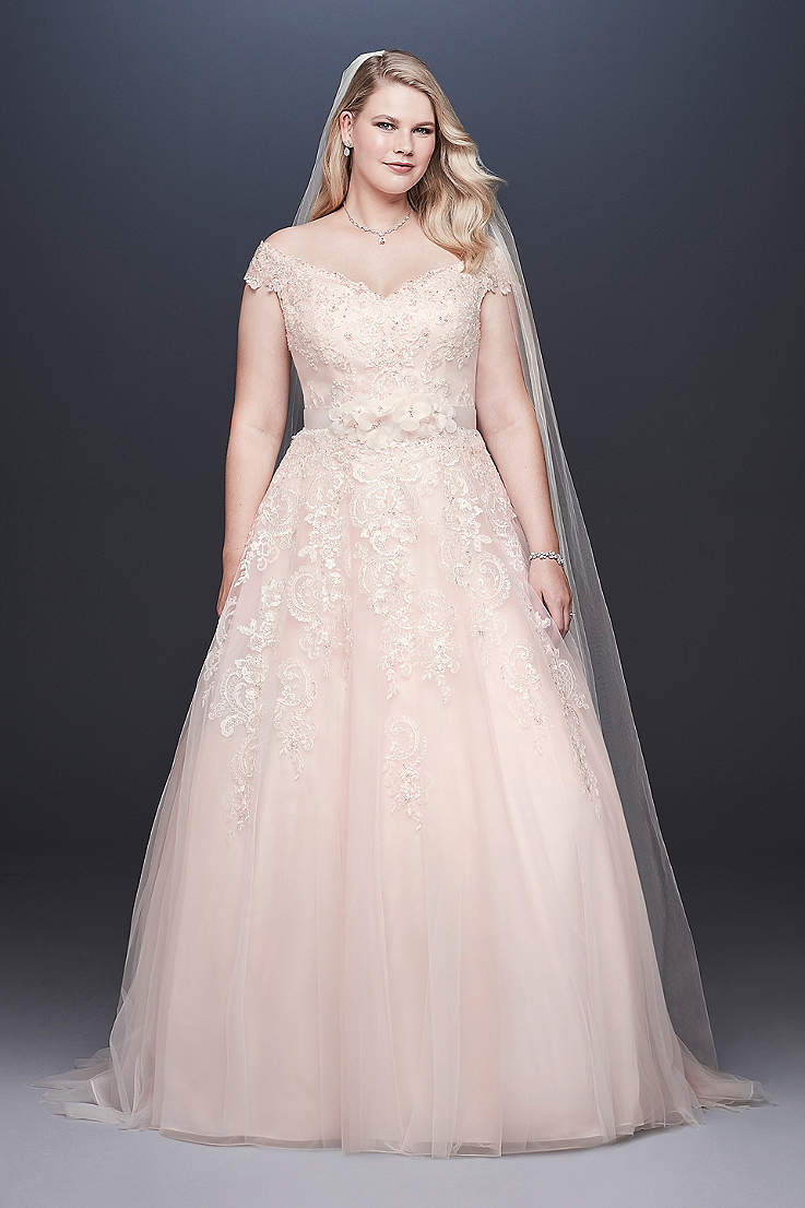 Light Pink Blush Wedding Dresses Davids Bridal