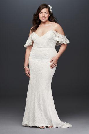 cold shoulder wedding dress