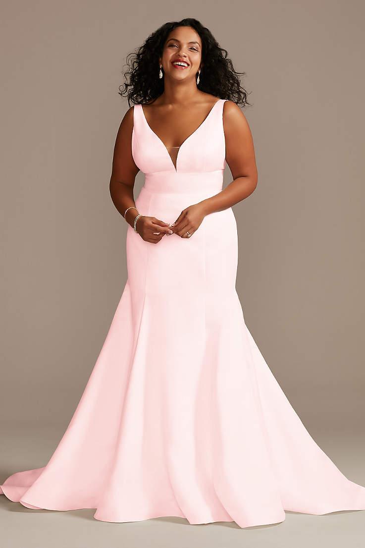 Pink Plus Size Dresses   Davids Bridal