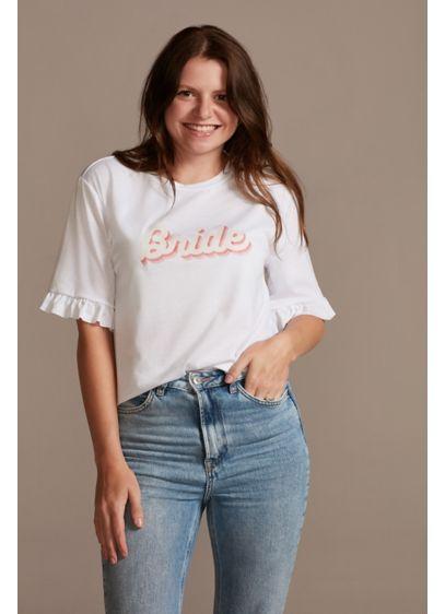 Ruffled Retro Bride T-Shirt - Ruffled sleeves and a retro-style