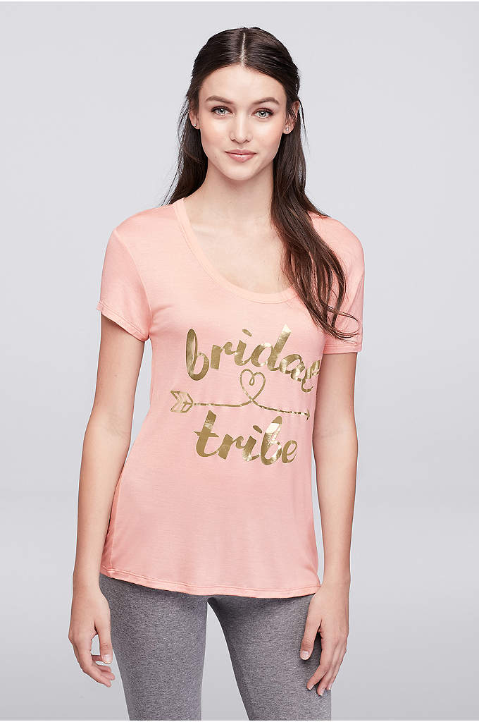 Bride Tribe Arrow Tee - Pair this gold-printed bride tribe tee with your