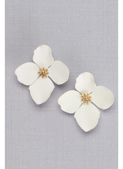 Magnolia Blossom Post Earrings - Wedding Accessories