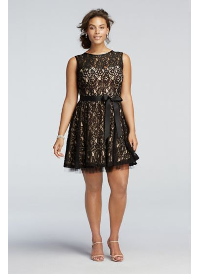 Short Black Soft & Flowy Betsy and Adam Bridesmaid Dress