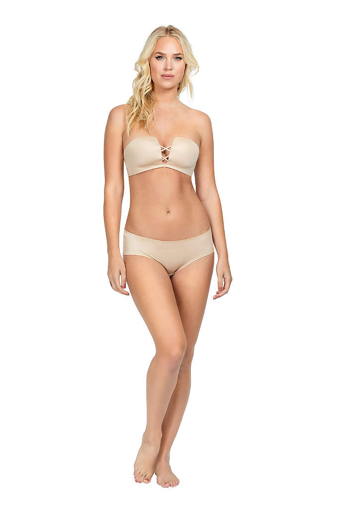 Mod by Parfait Deco Wire-Free Strapless Bra - Designed with a strappy crisscross front detail, this