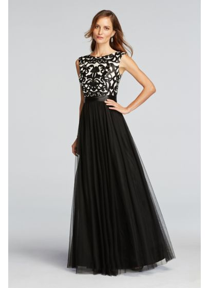 Long Ballgown Cap Sleeves Formal Dresses Dress - Betsy and Adam