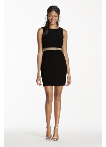 Short Sheath Tank Cocktail and Party Dress - Betsy and Adam