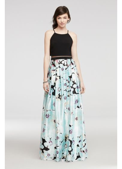Long Ballgown Halter Daytime Dress - Betsy and Adam