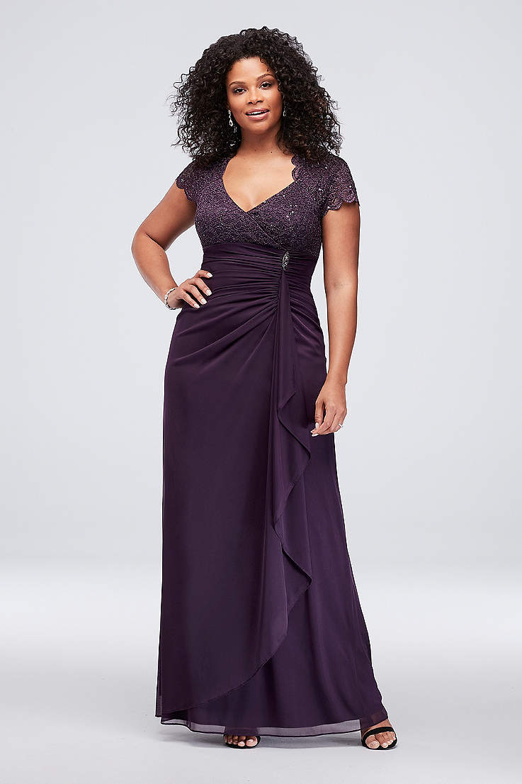 Plus Size Purple Dresses | Davids Bridal