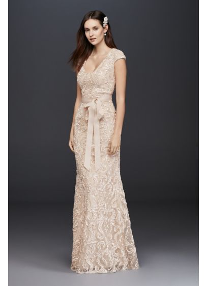 Long A-Line Casual Wedding Dress - Betsy and Adam