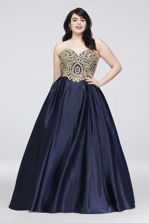 Plus Size Ball Gown Prom Dresses