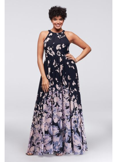 Long A-Line Halter Formal Dresses Dress - Betsy and Adam