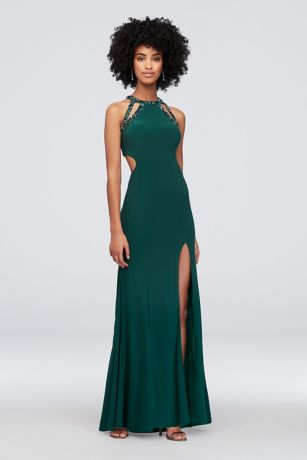 Long Sheath Halter Dress - Betsy and Adam