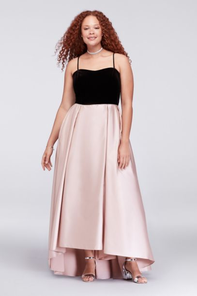 Velvet And Mikado Plus Size Ball Gown Davids Bridal