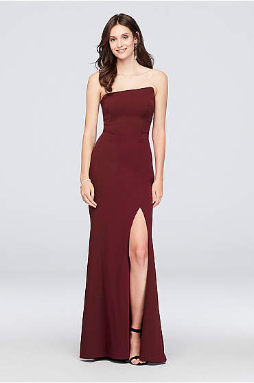 Scuba Crepe Asymmetrical Dress with Back Ruffle