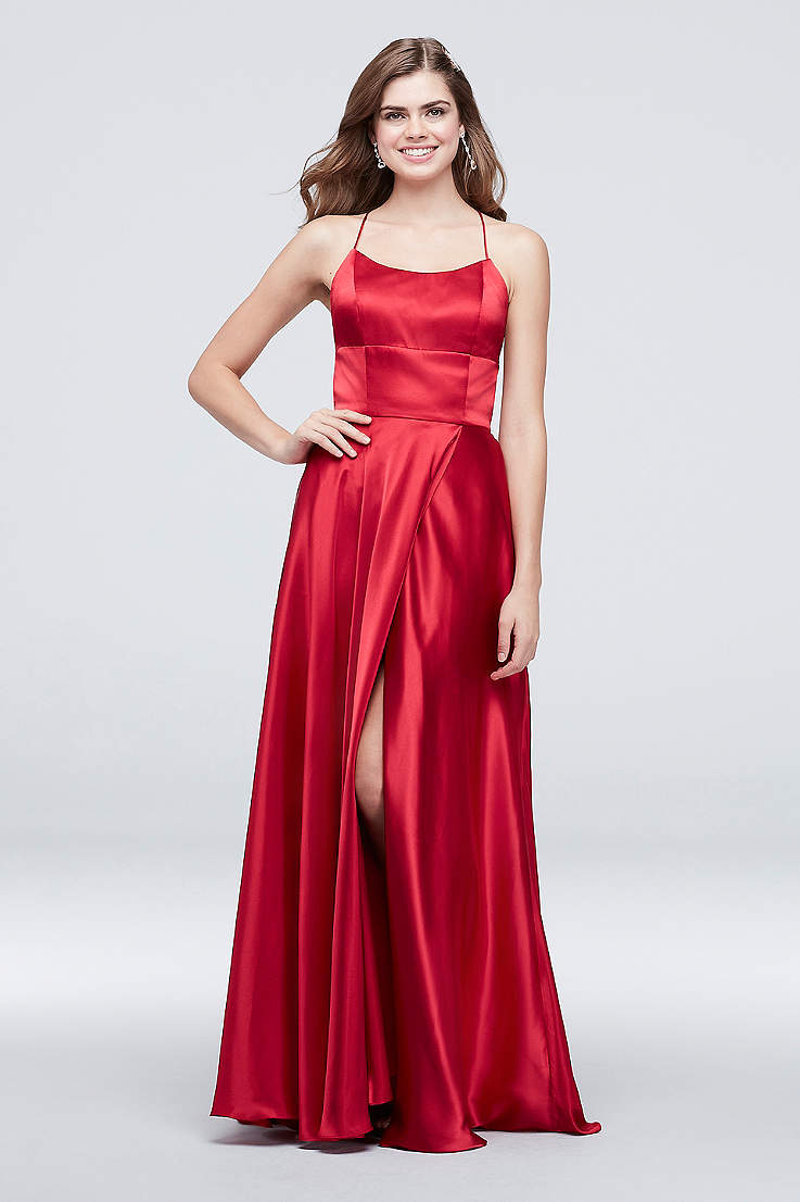 ec76bcf34469 Red Prom Dresses, Long & Short Formal Red Gowns | David's Bridal