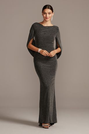 Long Sheath Elbow Sleeves Dress - Betsy and Adam