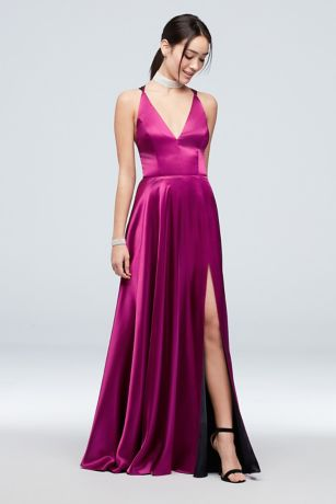 Slit Neck Dress