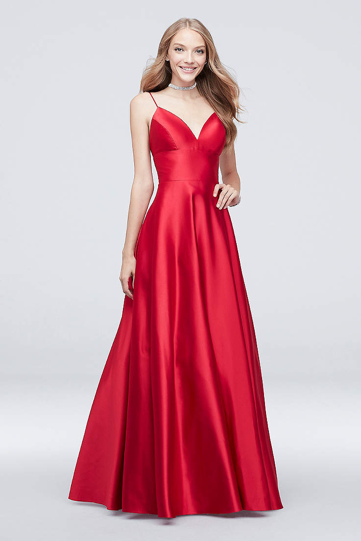 9cfbd81f Red Prom Dresses, Long & Short Formal Red Gowns | David's Bridal