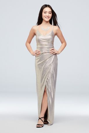 Long Sheath Spaghetti Strap Dress - Betsy and Adam
