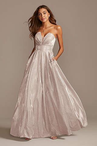 Brillante Vestido Tipo Princesa