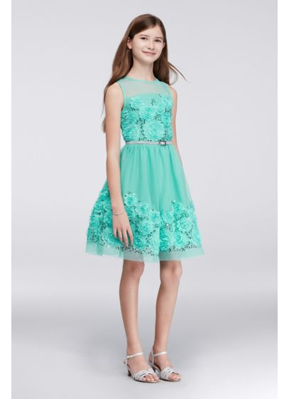 Short Green Soft & Flowy Beautees Bridesmaid Dress