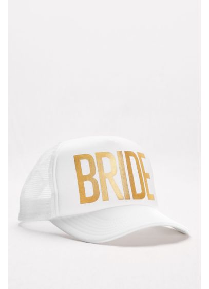 Gold Foil Bride Trucker Hat - Let this beach-ready bride trucker cap announce your