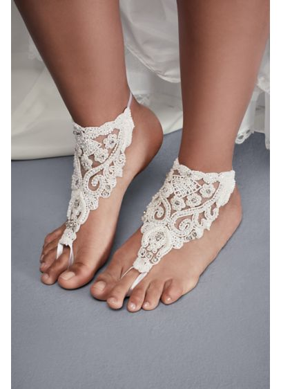 David's Bridal Ivory (Beaded Lace Foot Jewelry)