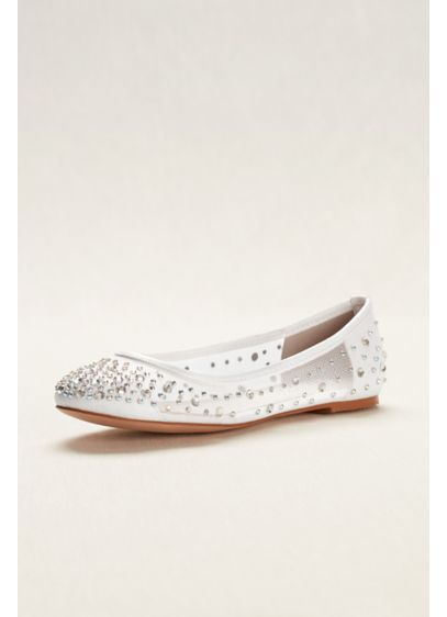 Blossom White (Ballet Flat with Scattered Crystal Accesnts)