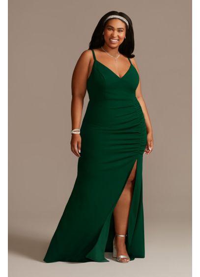 Long Sheath Spaghetti Strap Formal Dresses Dress - Emerald Sundae
