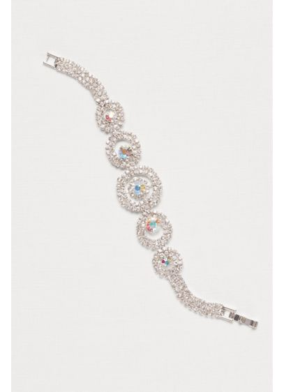 Concentric Circles Crystal Bracelet - Wedding Accessories