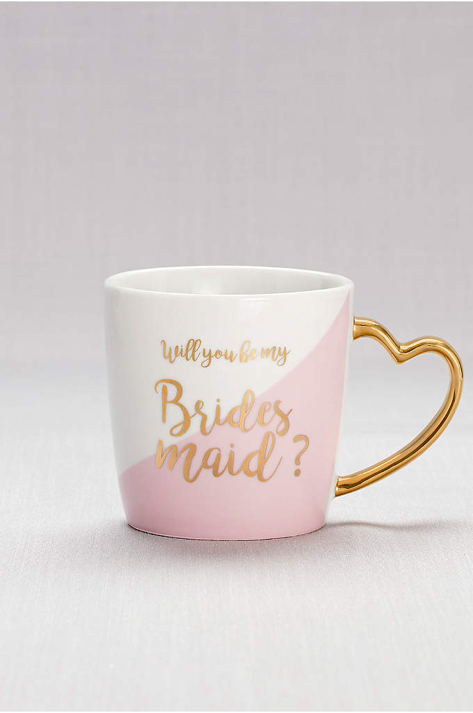 Heart-Handled Bridesmaid Mug - Make her day (and every morning!) with this