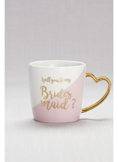 Pink (Heart-Handled Bridesmaid Mug)