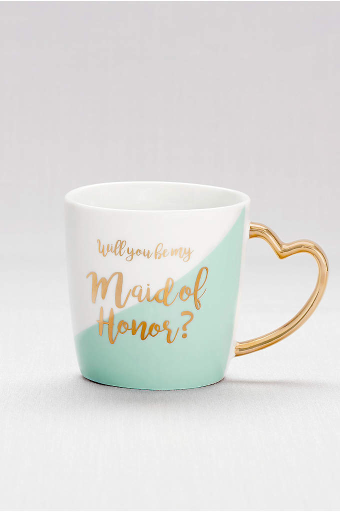 Heart-Handled Maid of Honor Mug - Make her day (and every morning!) with this