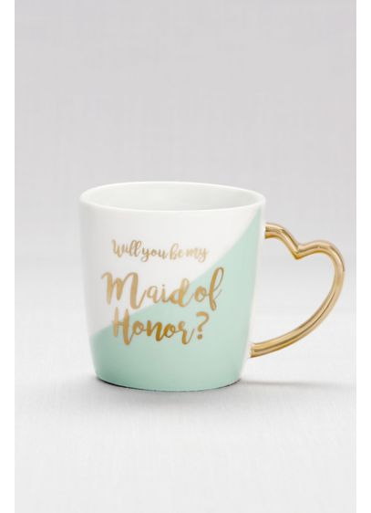 Heart-Handled Maid of Honor Mug - Wedding Gifts & Decorations