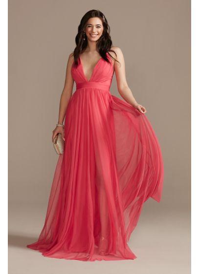 Long A-Line Spaghetti Strap Guest of Wedding Dress - Emerald Sundae