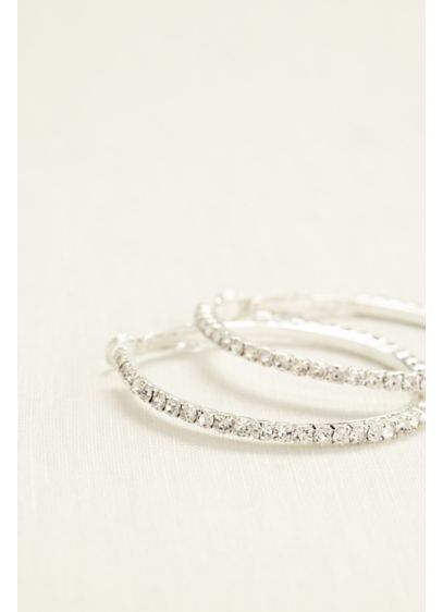 Crystal Hoop Earrings - Wedding Accessories