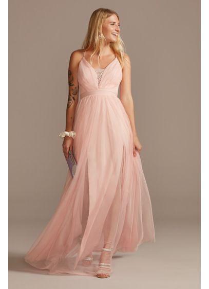 Long A-Line Spaghetti Strap Prom Dress - Emerald Sundae