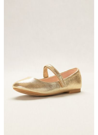Blossom Yellow (Flower Girl Metallic Mary Jane Ballet Flats)