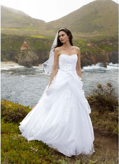 Tulle Ball Gown with Lace-Up Back and Side - A modern twist on the traditional ball gown,