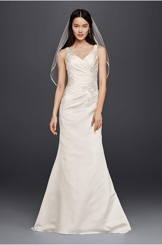 As-Is V-Neck Trumpet Wedding Dress - A wedding dress should make you feel like