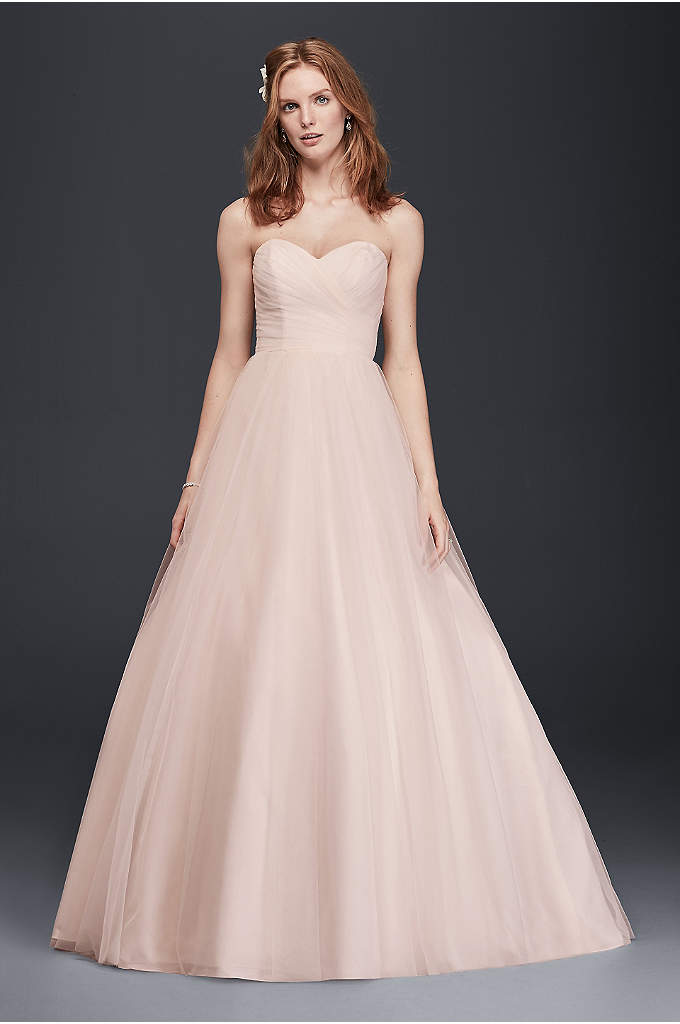 As-Is Strapless Sweetheart Tulle Wedding Dress - Imagine walking down the aisle in this stunning