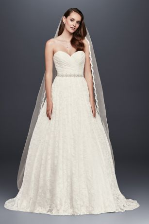 As Is Lace Sweetheart Wedding Ball Gown David S Bridal