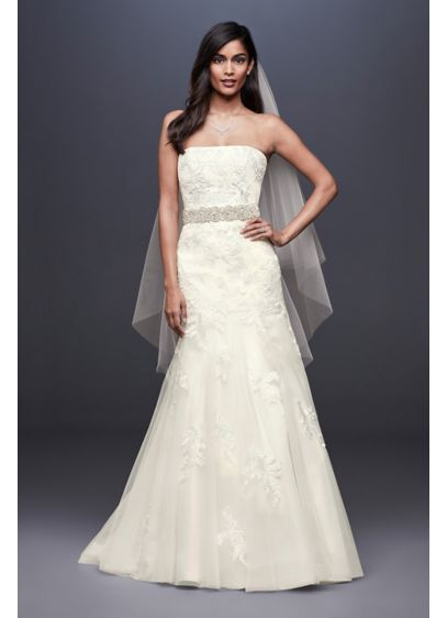 As-Is Beaded Lace Mermaid Wedding Dress - The mermaid dress of your wedding dreams, this