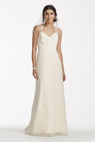 Halter Chiffon Dress David's Bridal
