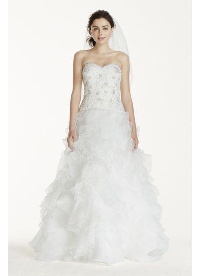 As-Is Organza Wedding Dress with Ruffled Skirt | David\'s Bridal