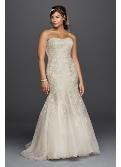 Lace Sweetheart Neckline Plus Size Wedding Dress Davids Bridal